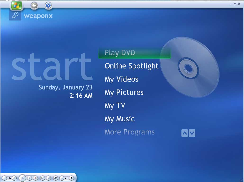 Windows XP Media Center 2005 funciona bien sobre hardware gama baja